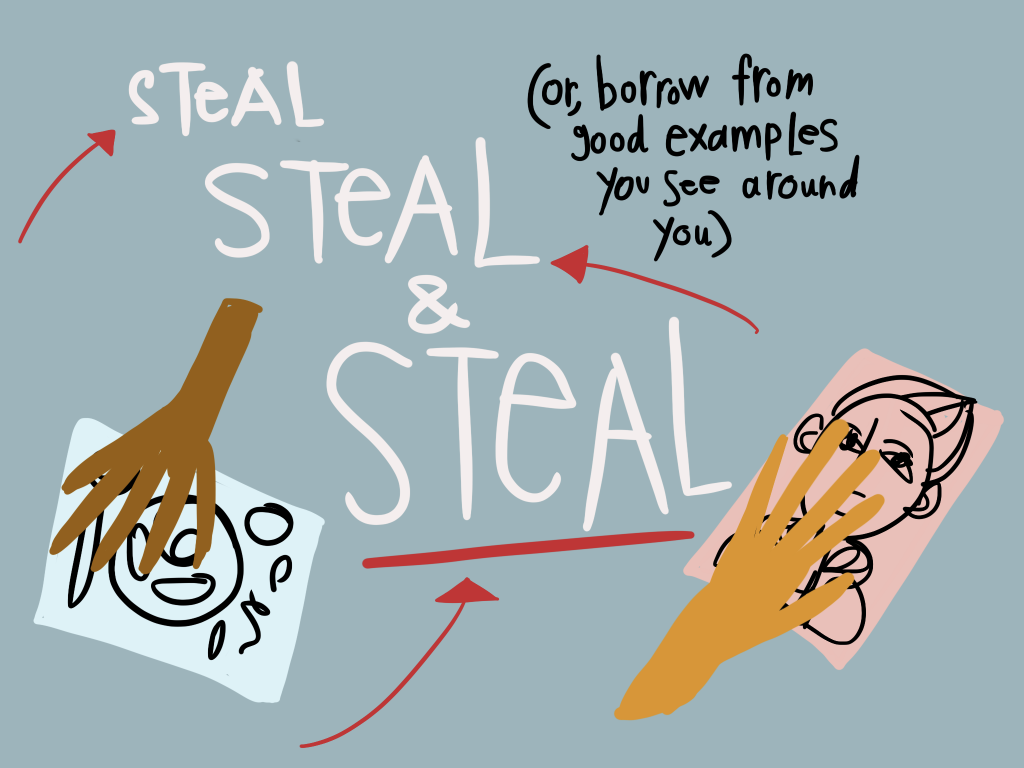 Design Process - steal steal steal