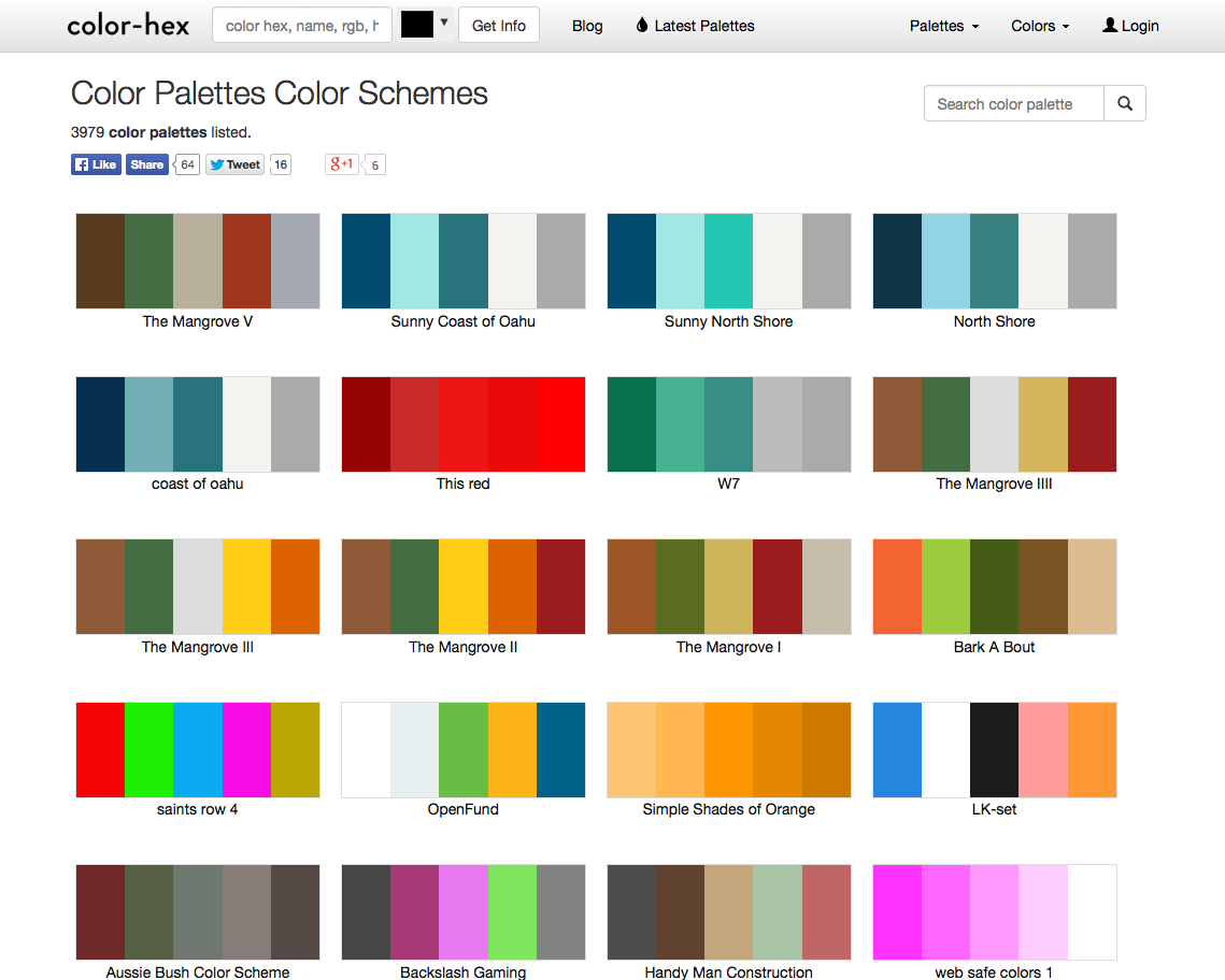 Color hex page for web colors palettes legal design for Web page color palette
