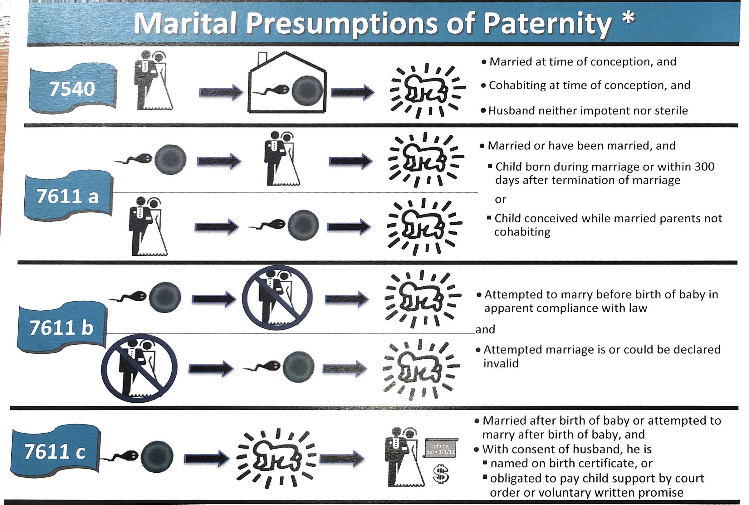 Marital presumptions of paternity visual law library marital presumptions of paternity chart nvjuhfo Image collections