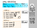 Navigator sketch to guide through the process - timeline & checklist