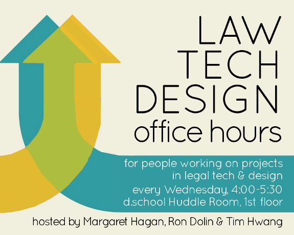 Law Tech Design office hour poster 500