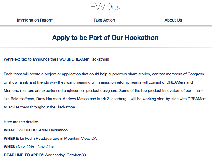 Open Law Lab - Fwd Us Immigraiton Hackathon