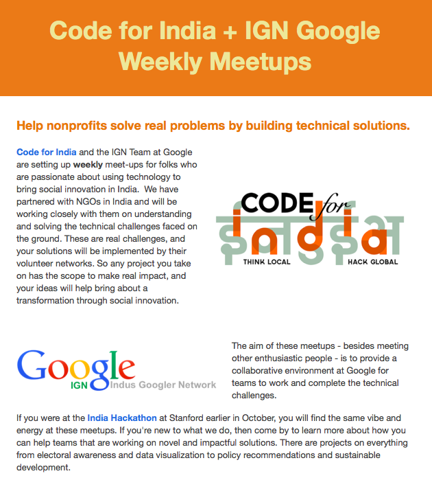 Program for Legal Tech and Design - Code for INdia