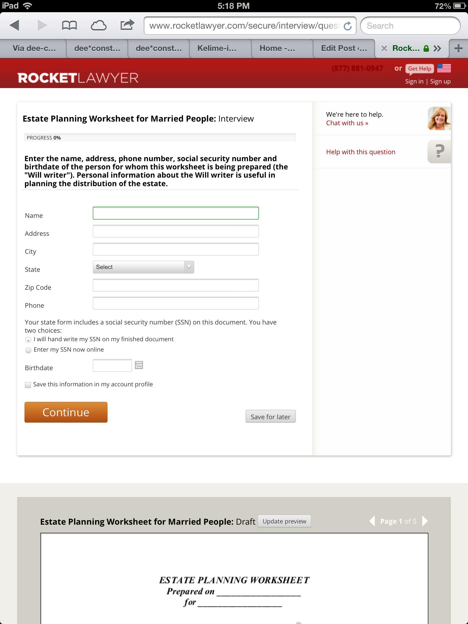 Form Creation Pattern: Rocket Lawyer | Legal Design Lab