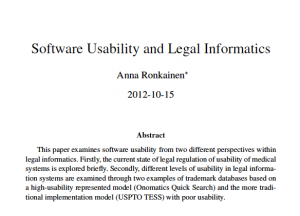 Program for Legal Tech and Design - Software Usability and Legal Informatics