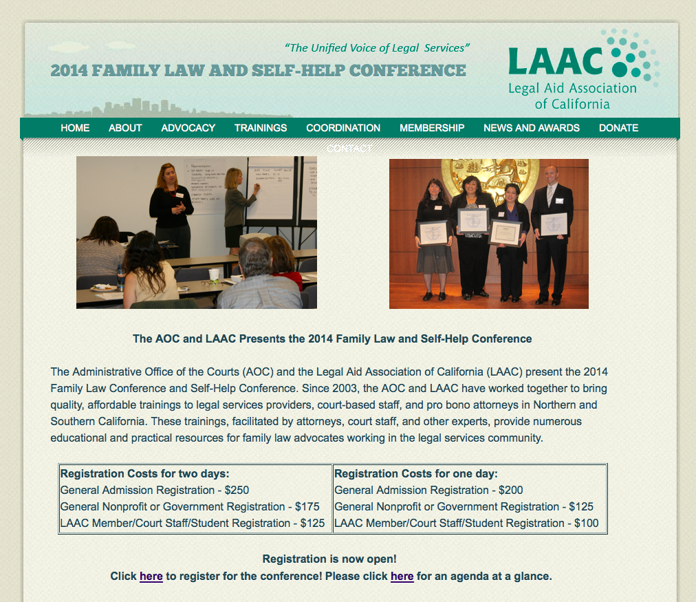 Legal Tech Design - LAAC - Access by Design Conference - Family Law and Self-Help Conference