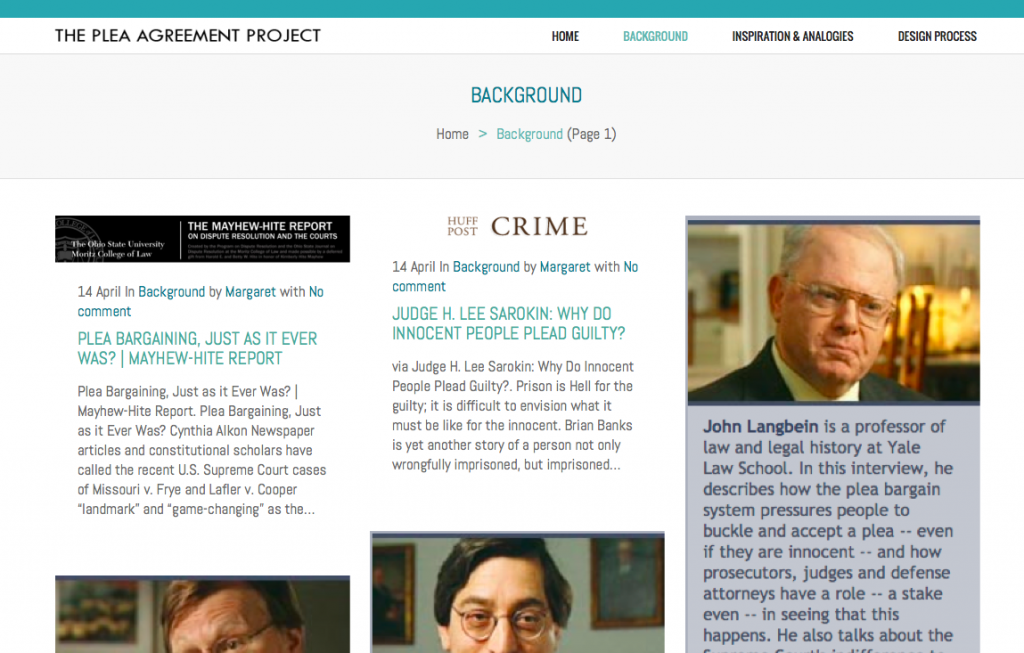 Plea Agreement Project - Program for Legal Tech and Design - class page