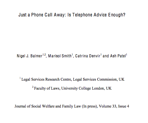 Legal Tech Design - Is PHone Advice enough for legal services?