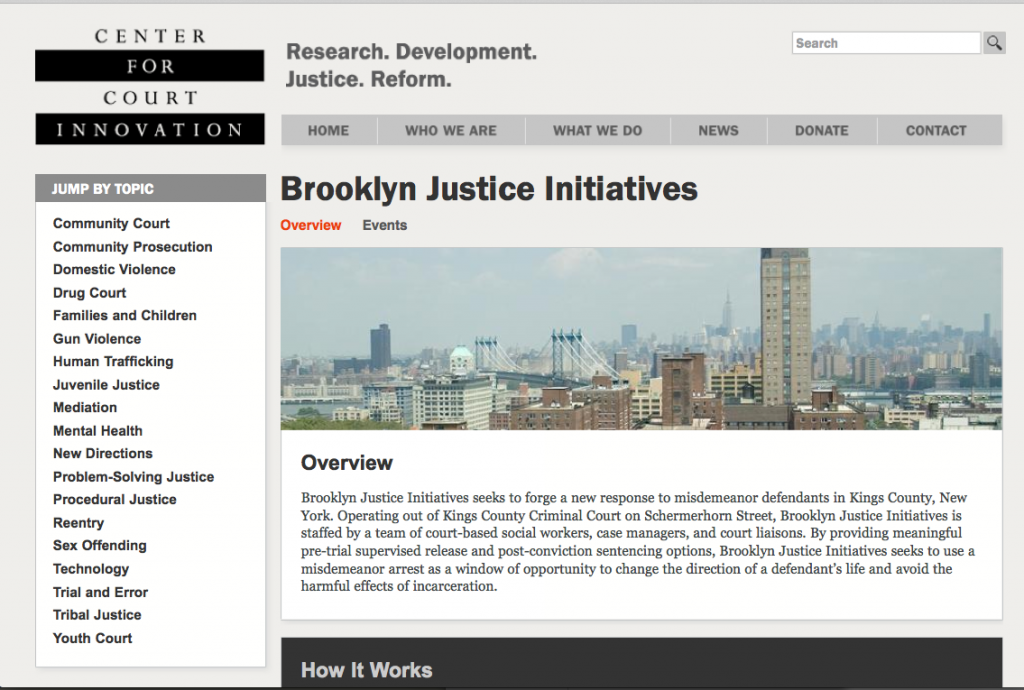 Court Messaging Project - Brooklyn Justice Initiative