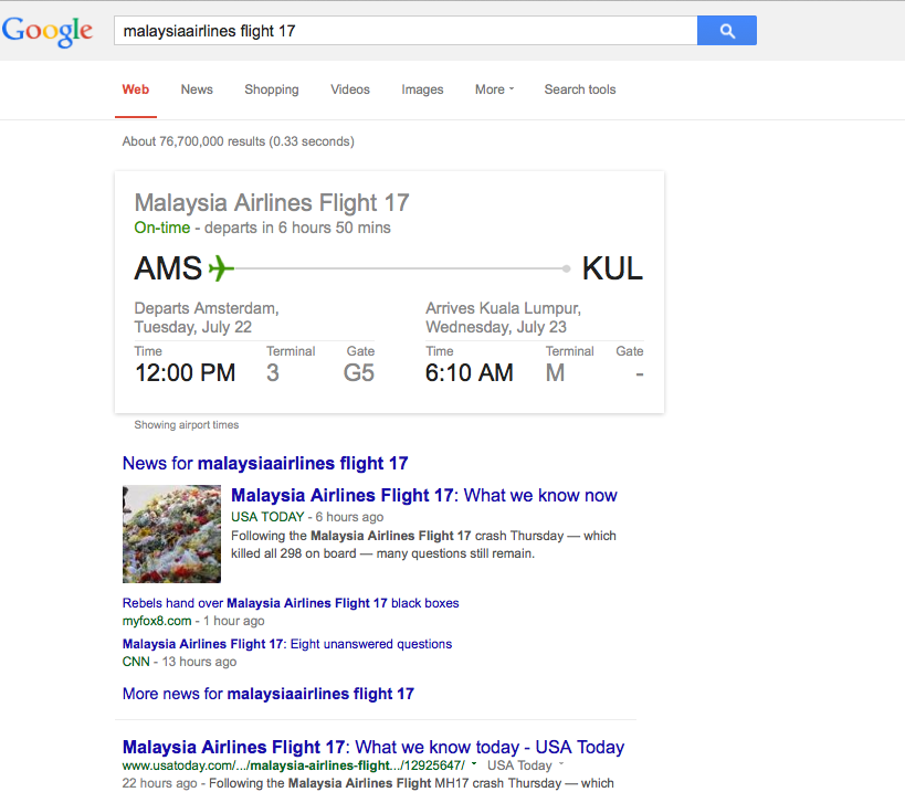 Internet as Legal Service - google search result - flight path