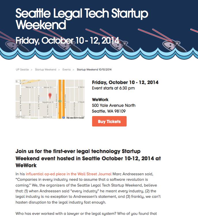 Seattle Legal Tech Startup Weekend