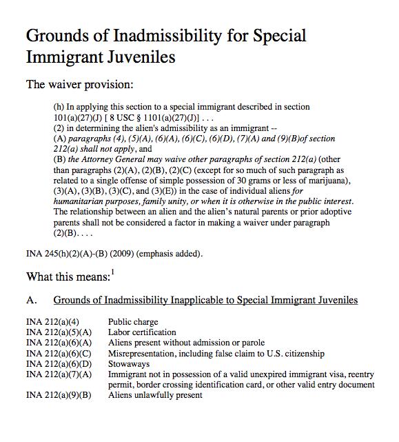 ILRC - SIJ inadmissbility 1
