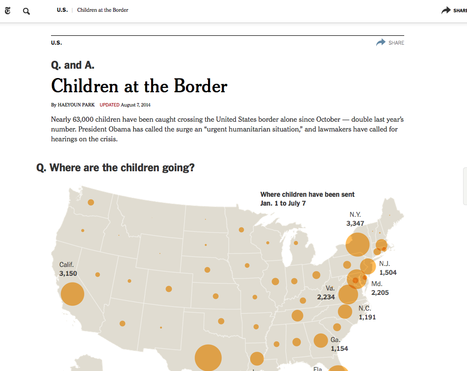 NYTimes - Children at the Border