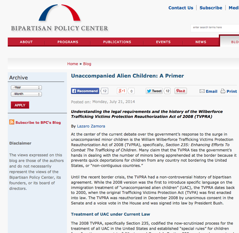Primer on Unaccompanied ALien Children