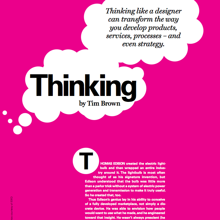 Reading List - Design Thinking by Tim Brown