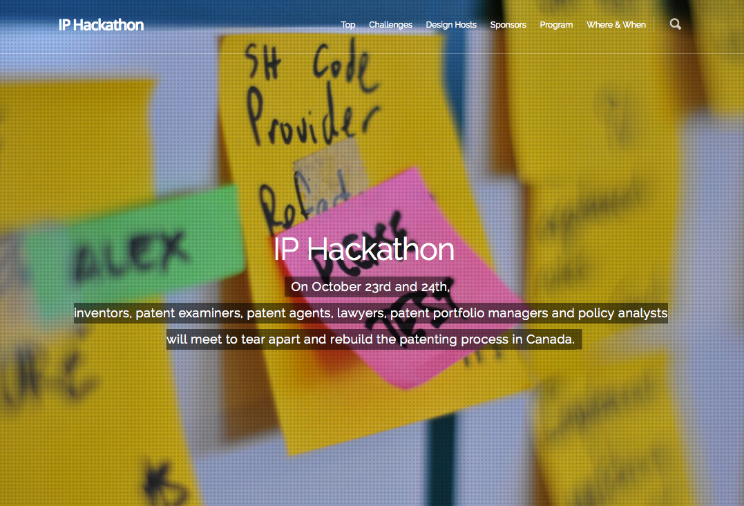 Program for Legal Tech and Design - IP Hackathon at Osgoode