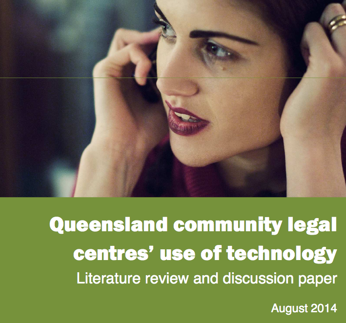 Legal Tech and design - Queensland community legal centers use of tech 1