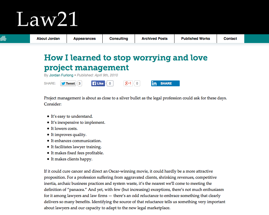 How I learned to stop worrying and love project management